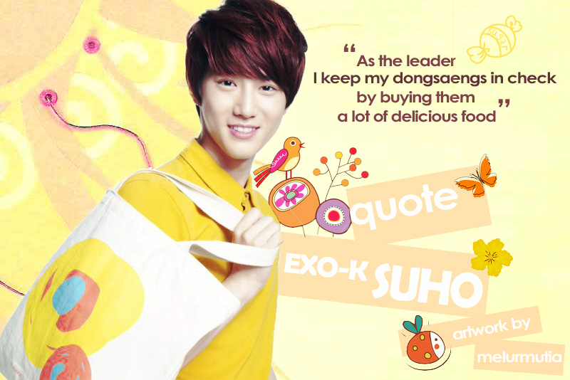 artwork quote from exo k suho